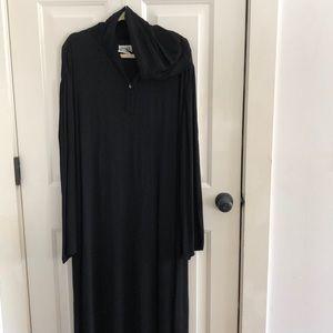 Chico's black hooded full length tunic